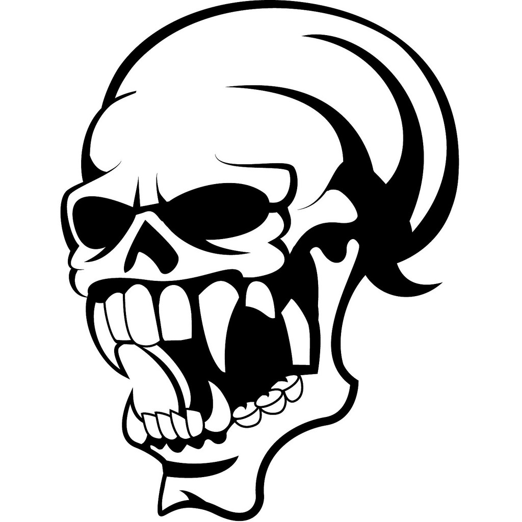 Skull Teeth Drawing At Getdrawings