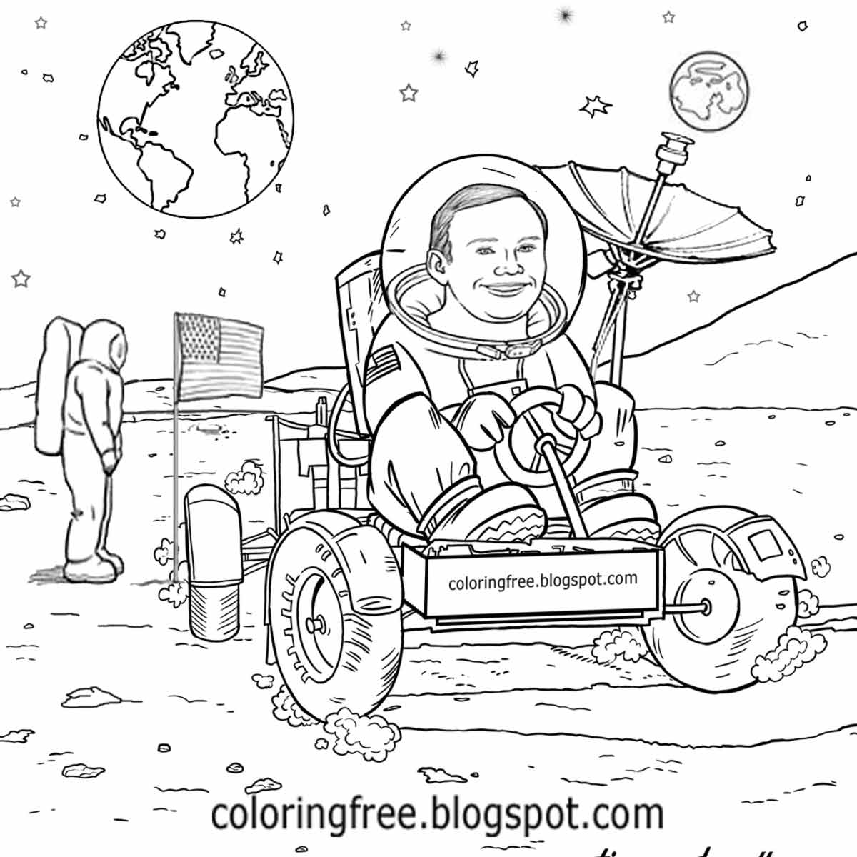 Space Rover Drawing At Getdrawings