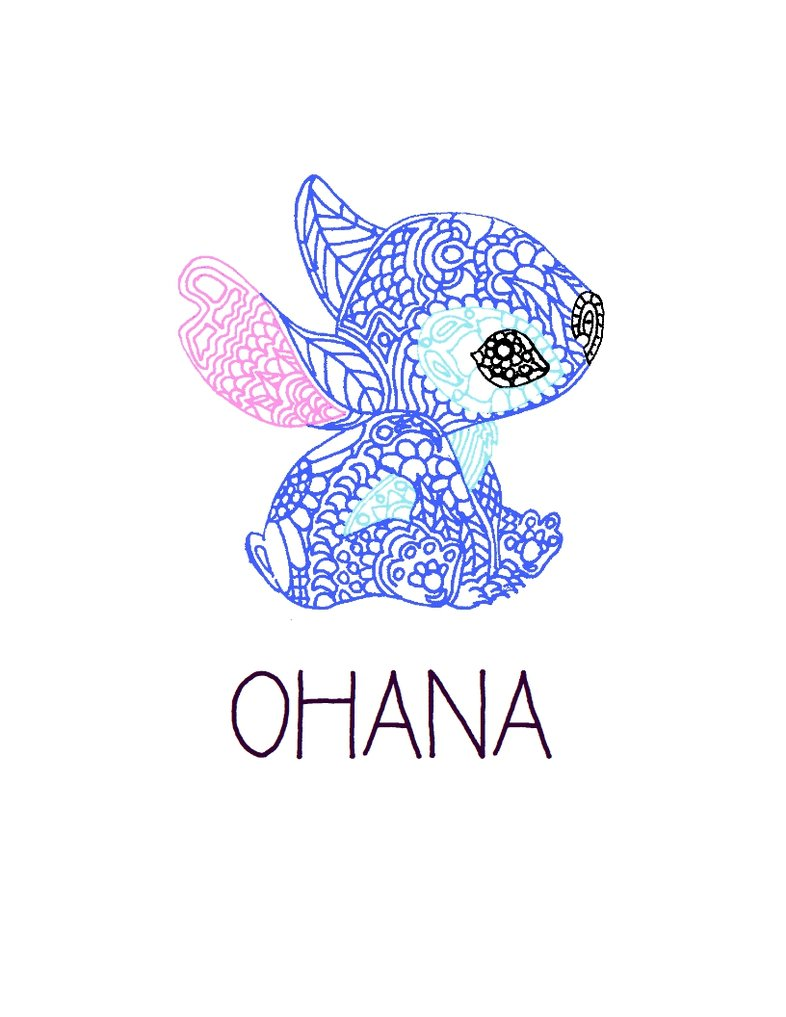 stitch drawing ohana at getdrawings  free download
