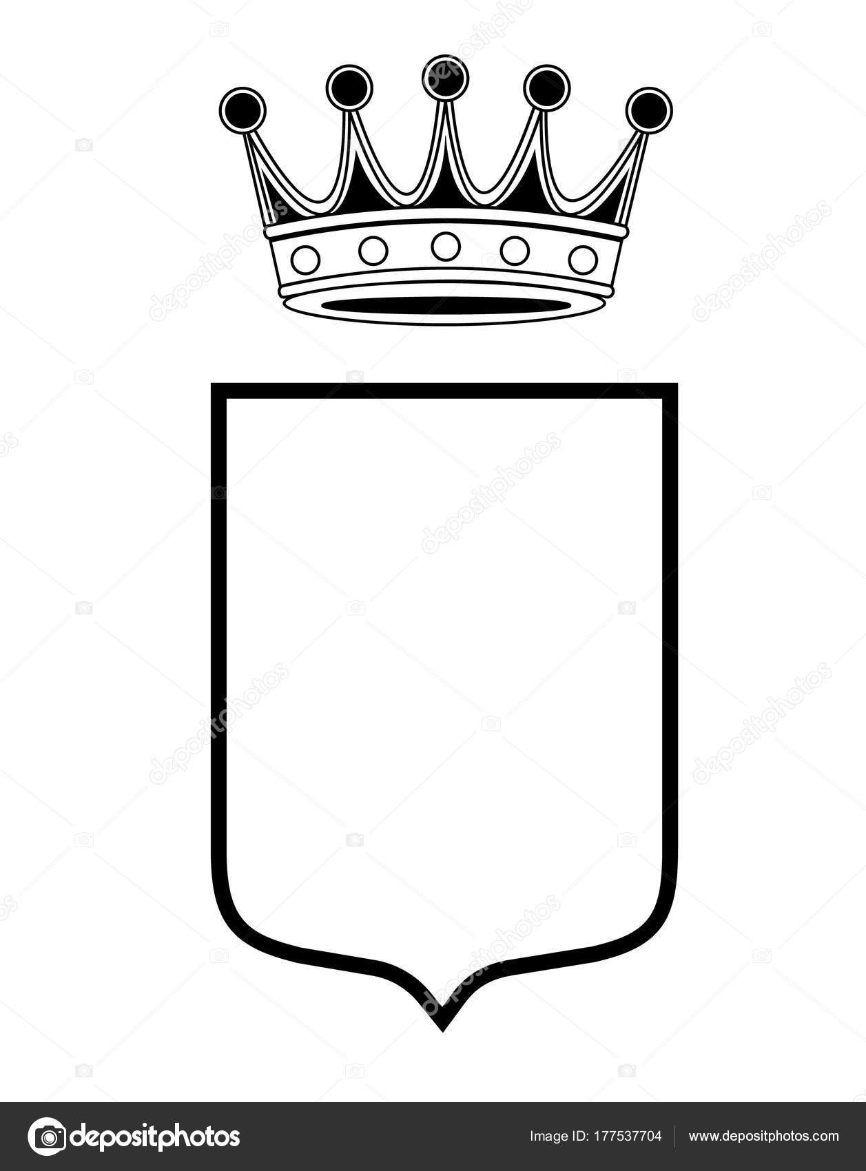 Coat Of Arms Template Vector At Getdrawings