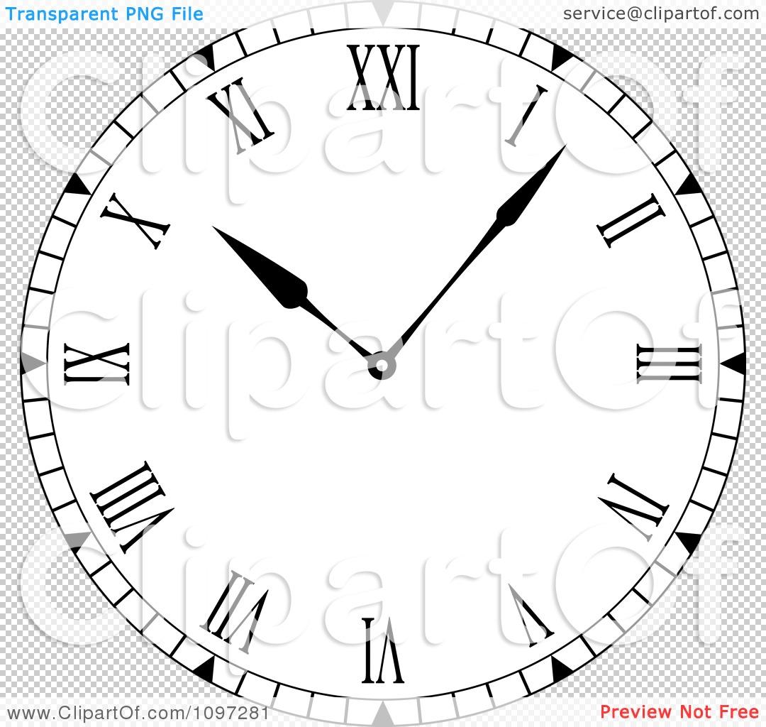 Roman Numeral Clock Face Vector At Getdrawings