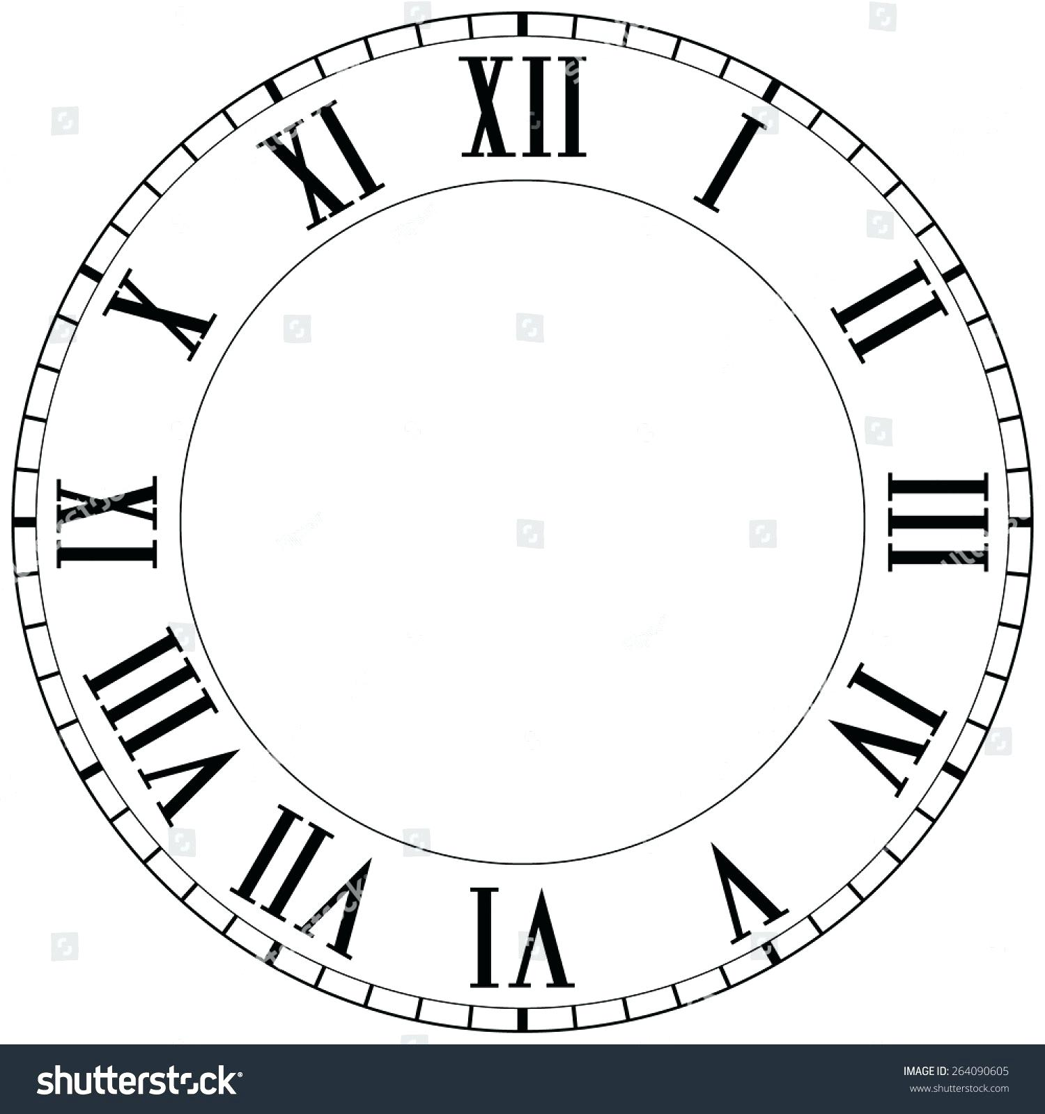 Roman Numeral Clock Face Vector At Getdrawings