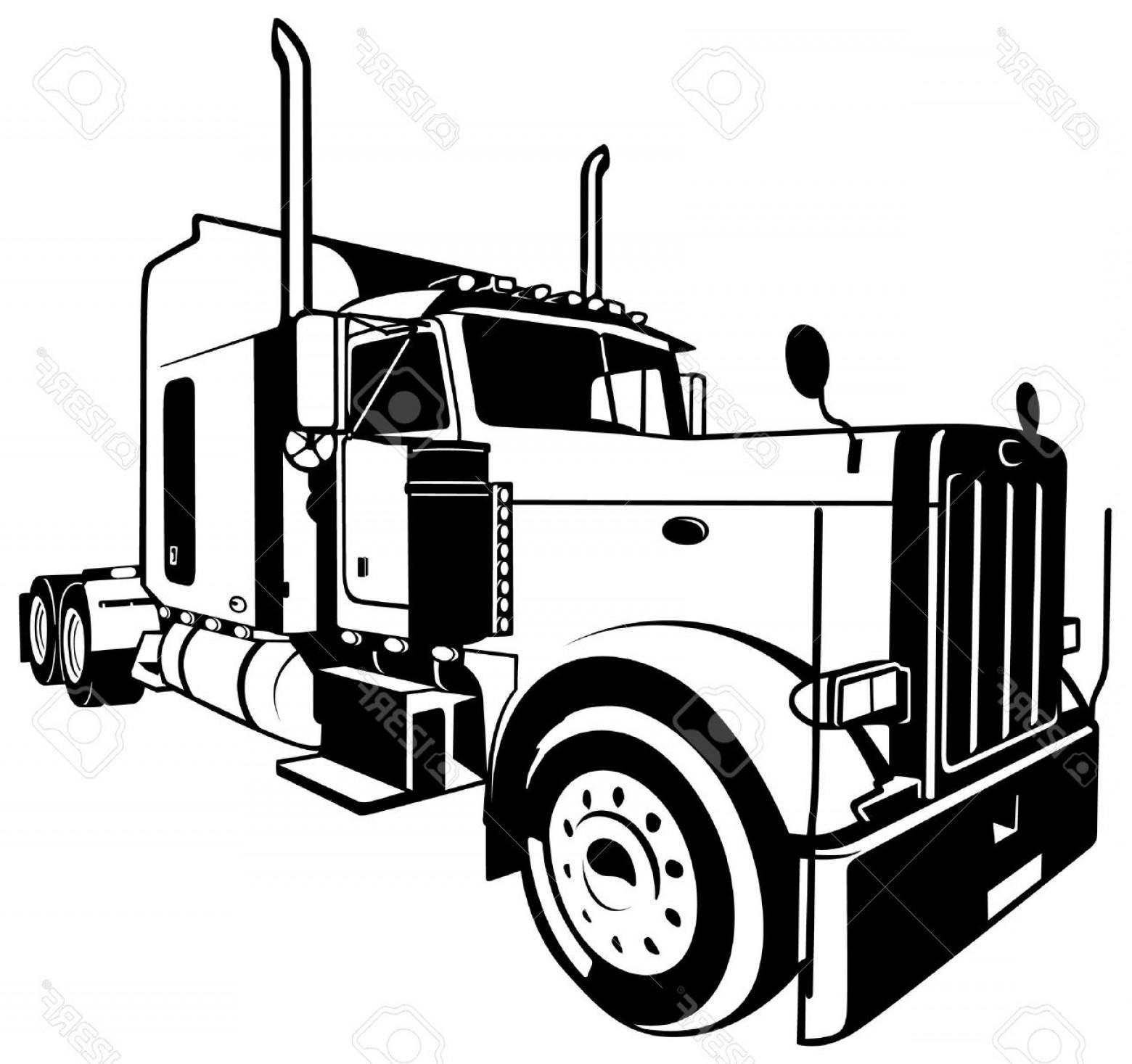 Semi Truck Vector At Getdrawings