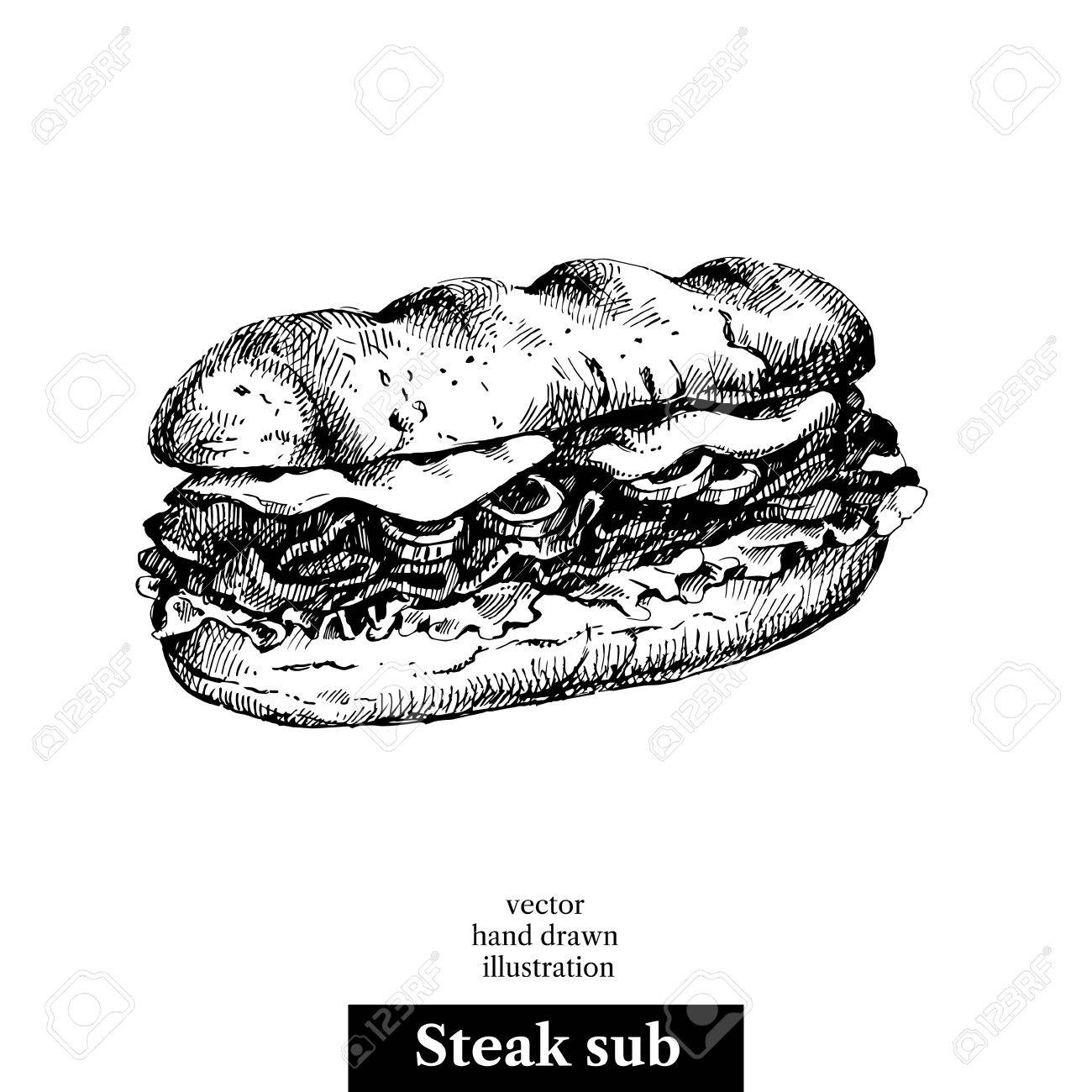 Sub Sandwich Vector At Getdrawings