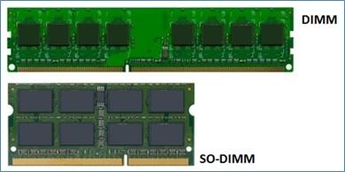 Perbedaan ukuran RAM DIMM dan SO-DIMM
