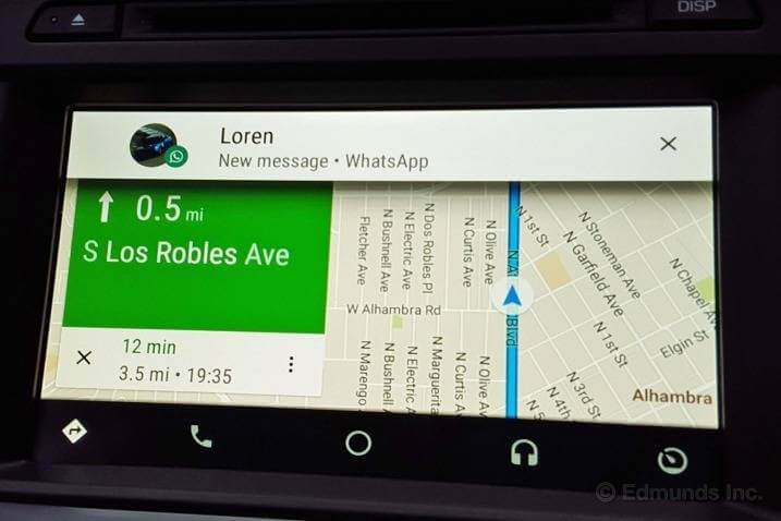whatsapp android auto