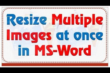 Resize multiple images at once in word