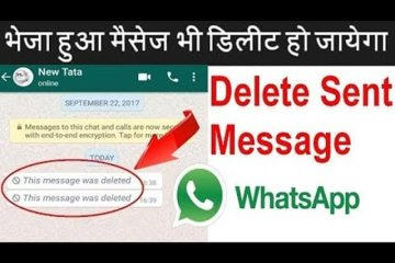 Delete WhatsApp message before Read