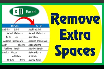Remove extra/blank space in excel