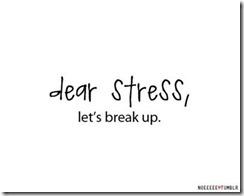 Dear stress lets break up May 21 2013