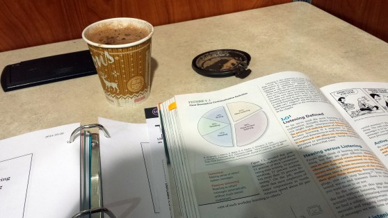 Library Studying Hot Chocolate December 5 2015