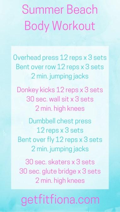Summer beach body workout