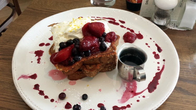 Diner Deluxe Mascarpone Berry French Toast