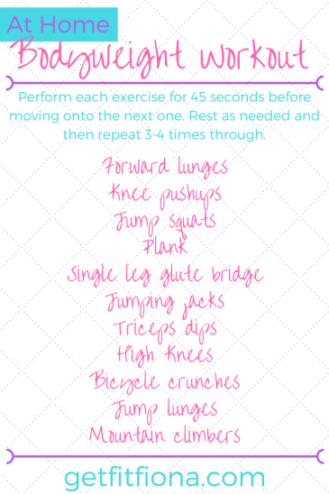 At Home Bodyweight Workout