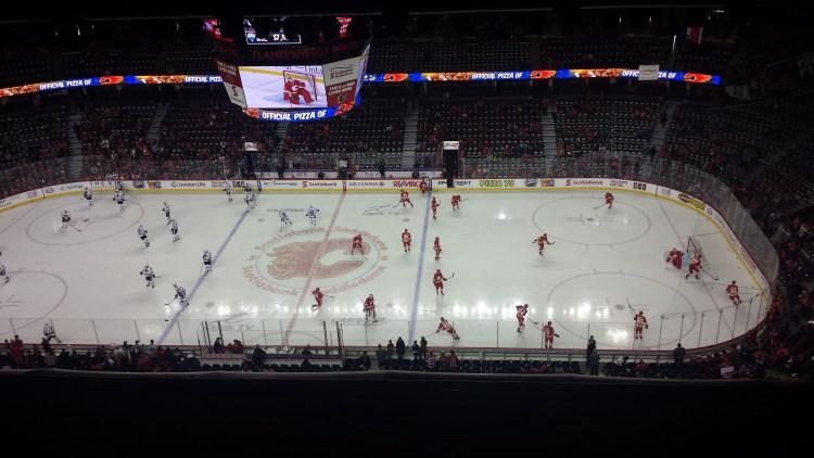 Calgary Chicago Hockey Game