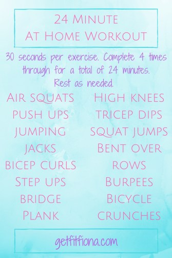24 Minute At Home Workout
