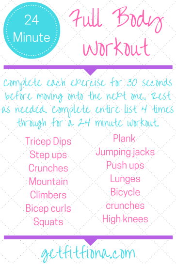 24 Minute Full Body Workout
