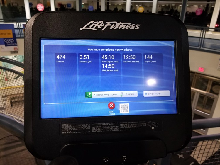 Elliptical Workout Weekly Workouts November 25 2017