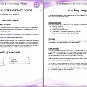 Get Fit. Go Figure! Strength Training Plan- Beginner/ Intermediate © (e-book)