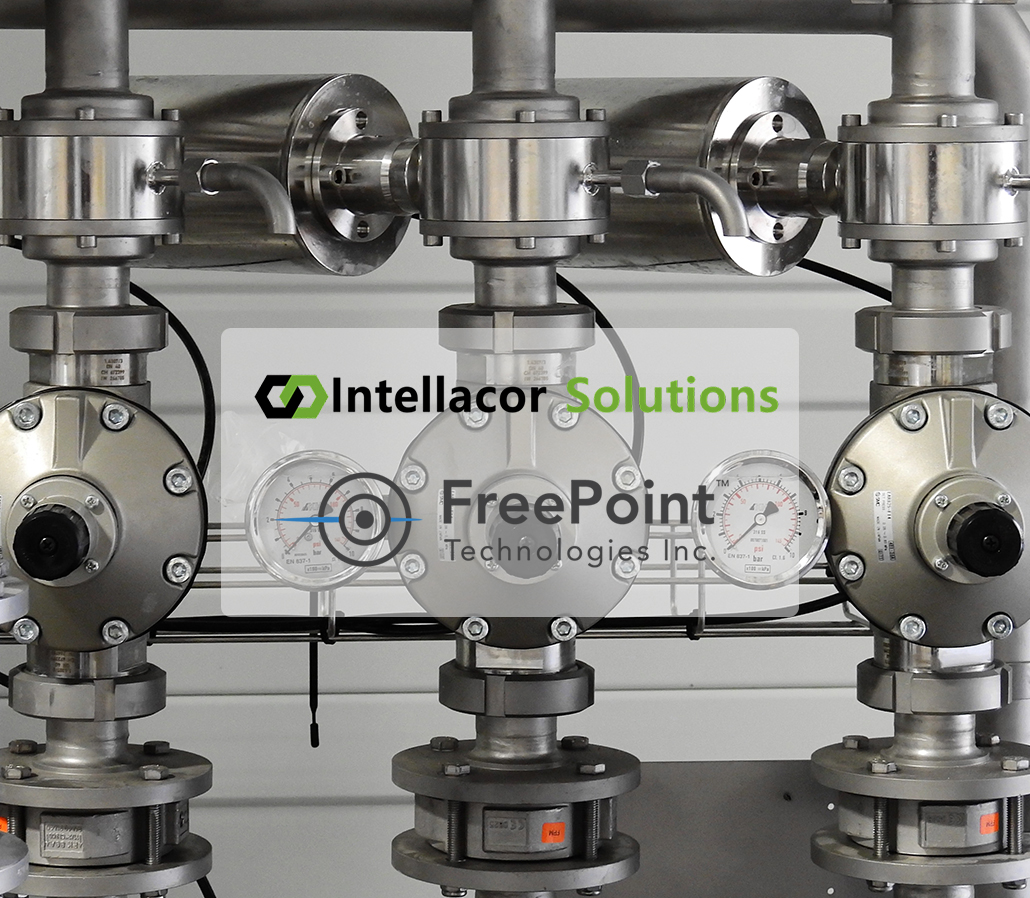 Intellacor Solutions and FreePoint Technologies Logos