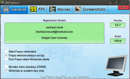FRAPS Cracked Serial Key 3.5.99 Full Version