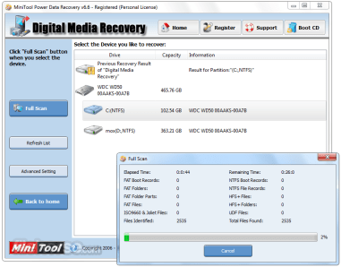 MiniTool Power Data Recovery 7 Lifetime Crack