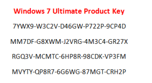 Windows 7 Ultimate Product Key Free Download