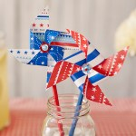 4th Of July Paper Crafts 4th Of July Crafts 0005 Patriotic Pinwheels 4th of july paper crafts|getfuncraft.com