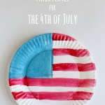 4th Of July Paper Crafts Watercolor American Flag Paper Plates For The 4th Of July 4th of july paper crafts|getfuncraft.com