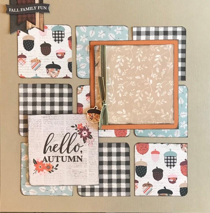 Autumn Scrapbook Layouts Ideas