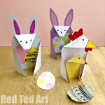 Card Paper Craft Easter Cards Bunny 1 card paper craft|getfuncraft.com