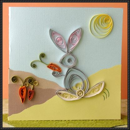 Card Paper Craft Quilling Thumper Greeting Card Paper Craft card paper craft getfuncraft.com