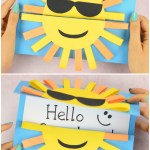 Card Paper Craft Sun Diy Paper Card Idea For Kids card paper craft|getfuncraft.com