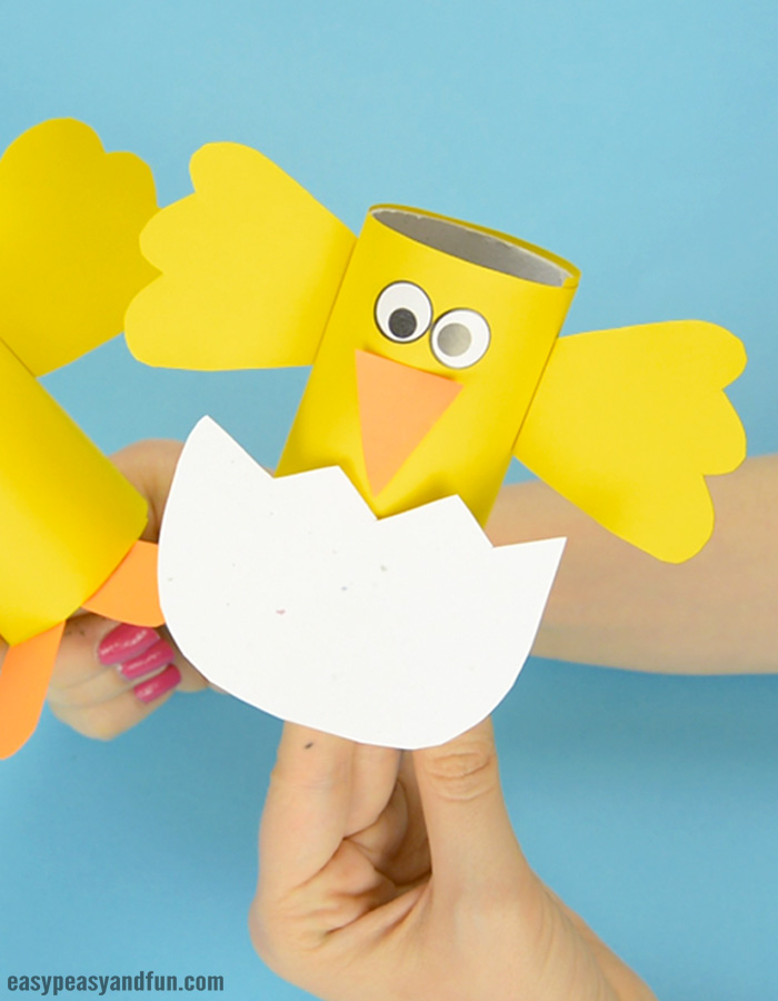 Craft Ideas For Toilet Paper Rolls Easter Chick Paper Roll Craft For Kids craft ideas for toilet paper rolls|getfuncraft.com