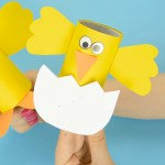 Craft Ideas For Toilet Paper Rolls Easter Chick Paper Roll Craft For Kids