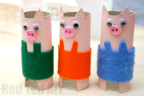 Craft Ideas For Toilet Paper Rolls Pig Crafts Kids 2 600x400 craft ideas for toilet paper rolls|getfuncraft.com