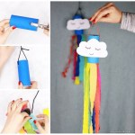 Craft Ideas For Toilet Paper Rolls Rainbow Windsock Toilet Paper Roll Craft For Kids craft ideas for toilet paper rolls|getfuncraft.com
