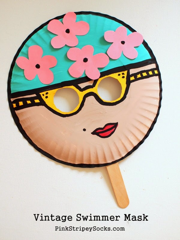 Craft Ideas Using Paper Plates 2 Vintage Swimmer Paper Plate Mask Kids Craft craft ideas using paper plates|getfuncraft.com