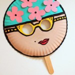Craft Ideas Using Paper Plates 2 Vintage Swimmer Paper Plate Mask Kids Craft