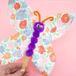 Craft Ideas Using Paper Plates Paper Plate Butterfly Craft 4 craft ideas using paper plates|getfuncraft.com