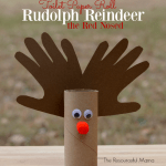 Crafts With Toilet Paper Rolls Toilet Paper Roll Rudolph Red Nosed Reindeer2
