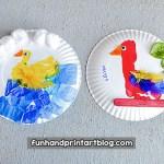 Duck Paper Plate Craft Duck Parrot Paper Plate Crafts Kids