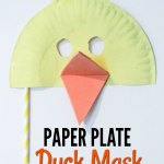 Duck Paper Plate Craft Paper Plate Duck Mask Kids Love