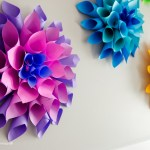 Flower From Paper Craft Diy Paper Dahlia Flowers