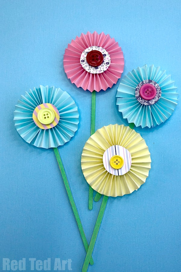 Flower From Paper Craft Easy Paper Flower Craft 3 flower from paper craft|getfuncraft.com