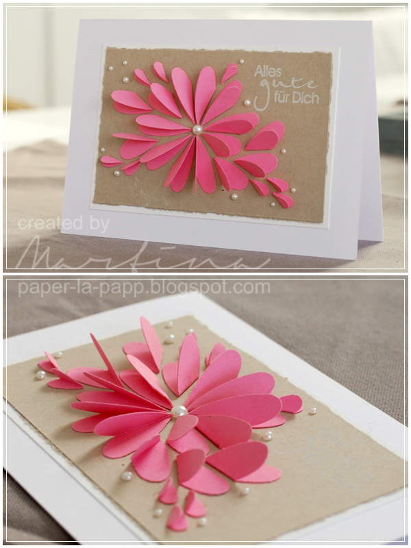 Flower From Paper Craft Flower Petal And Pearl Card flower from paper craft getfuncraft.com