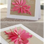 Flower From Paper Craft Flower Petal And Pearl Card