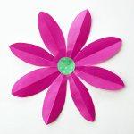 Flower From Paper Craft Foldingpaperflowers 8petal Step8
