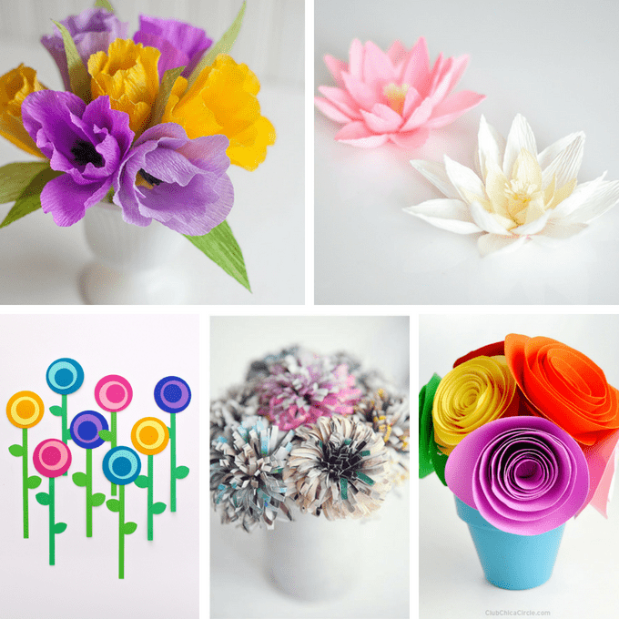 Flower From Paper Craft Paper Flowers Tutorial 5 flower from paper craft|getfuncraft.com