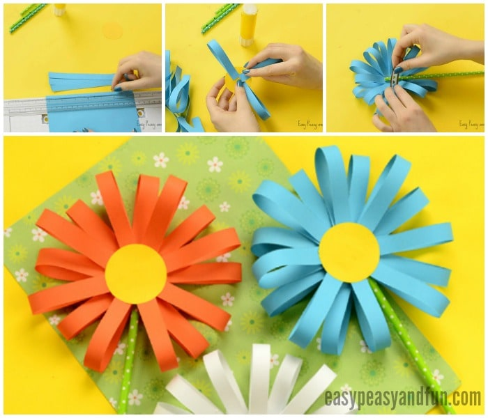 Flower From Paper Craft Simple Paper Flower Craft 1 flower from paper craft|getfuncraft.com